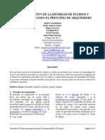 Informe de Física (Determinación de la Densidad de Sólido y Fluidos Aplicando el Principio de Arquimides)