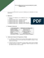 Procedimiento de Calibracion de Analizadores de Gases Ambientales