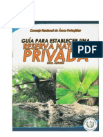 Guia Para La Inscripcion de Reservas Naturales Privadas