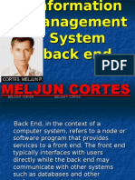 MELJUN CORTES MIS Back End
