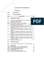 Listado de Partidas de Estructura, Alba+¦ileria, IISS, IIEE de Obra PURATOS