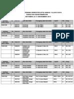 Jadwal Ujian Tengah Semester Kshe Semeter 3 t.a. 2013-2014