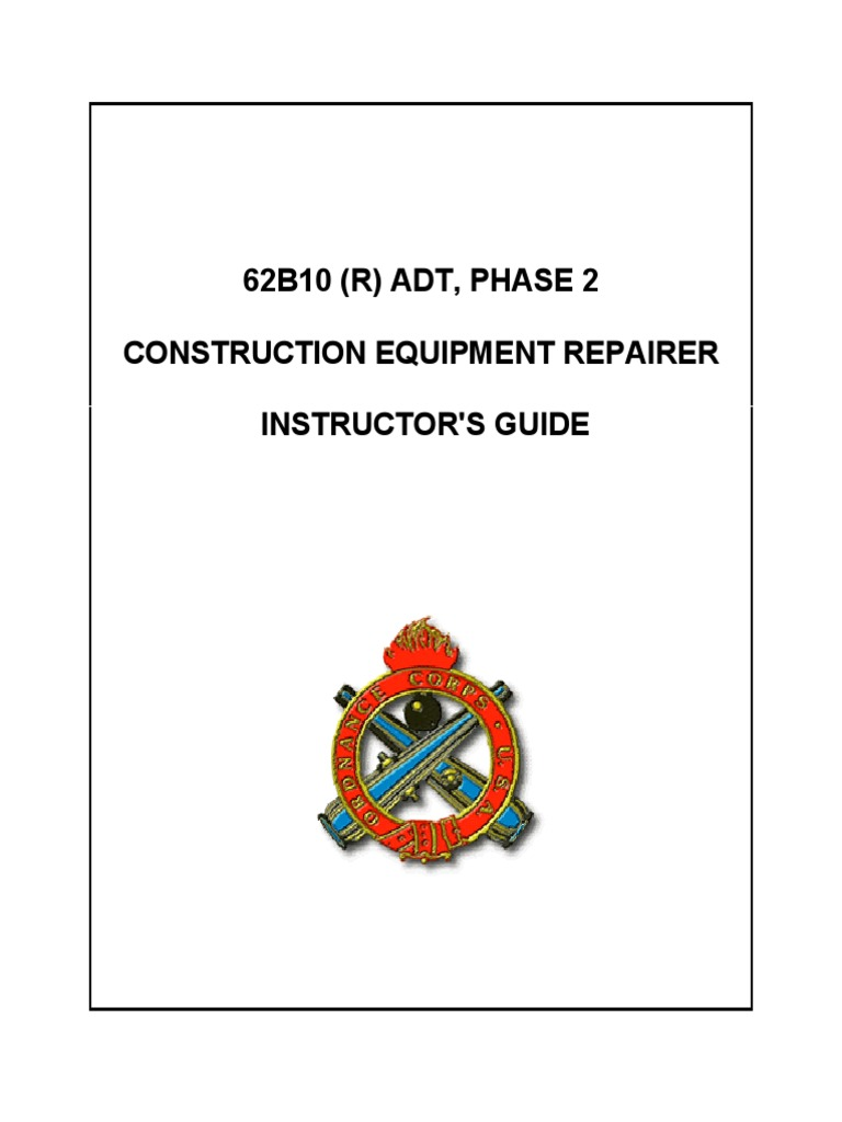 2005 Us Army Construction Equipment Repairer Instructor's