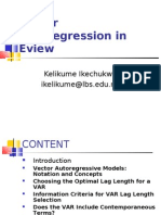 Vector Auto Regression in Eview Ike