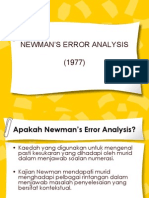 Newman's Error Analysis