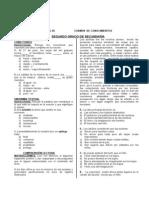 Examen Del Concurso de Conocimientos de 2do- 2010