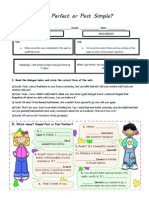 Worksheet_Past Perfect or Past Simple