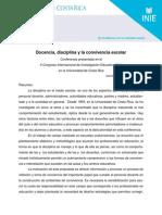 La Disciplina en El Aula y La Conducta Del Maestro-Carmen Cubero