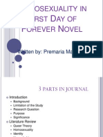 Homosexuality in First Day of Forever Novel
