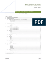 Primary Exam - Structure