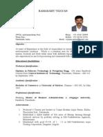 Resume Vijayan