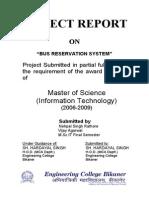 Matter for Bus Reservation System Final report