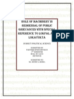 Role of lokpal and lokyukta in india, Redressal of Public