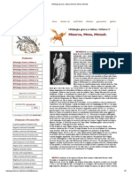 Mitologia Greca e Latina, Minerva, Minia, Miniadi