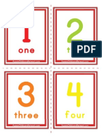 Flash Cards- numbers