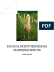 Basic Manual for Free Range Colored Broiler Production