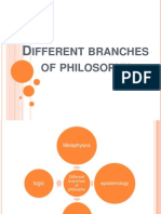 Different Branches of Philosophy