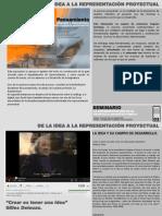 De La Idea a La Representacion Proyectual