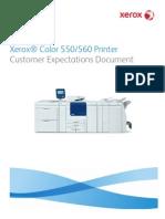 Xerox 550-560 - Customer Expectations Document