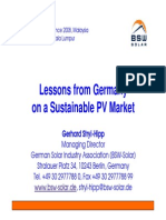Lesson from Germany Photovoltaic