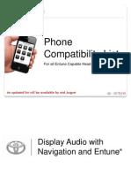 Prius C - EntunePhoneCompatibilityList