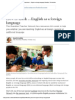 How to teach … English as a foreign language _ Education _ The Guardian