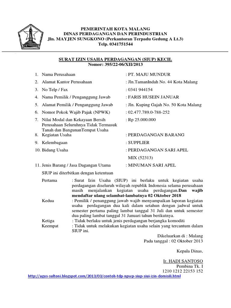 Pemerintah Kota Malang Siup