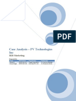 Case Analysis PV Technologies Inc