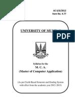 M.C.a. Syllabus for 1st Internal