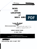 Allowances and Location of Navy Aircraft