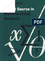 Burkill a First Course in Mathematical Analysis
