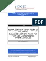 Navarro Diego - Teoría, conocimiento y poder en los Estados Unidos - El caso de los Think tanks y la teoría de las relaciones internacionales