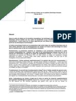 Synthèse de l'étude « La valeur et les coûts de l'éolien sur le système électrique en France ».