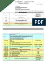 Program 30.08.2013