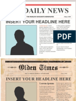 THE DAILY NEWS TEMPLATE POWERPOINT