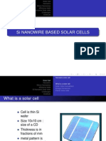 Si Nano Wire Based Solar Cells