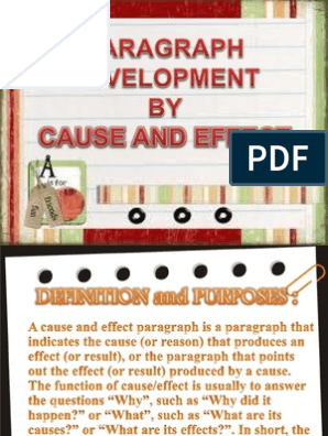 Paragraph Development by Cause and Effect | Reading (Process
