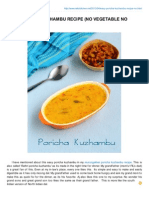 Easy Poricha Kuzhambu Recipe No Vegetable No Grind Version