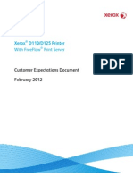 Xerox D 110/125 EPS - Customer Expectations Document