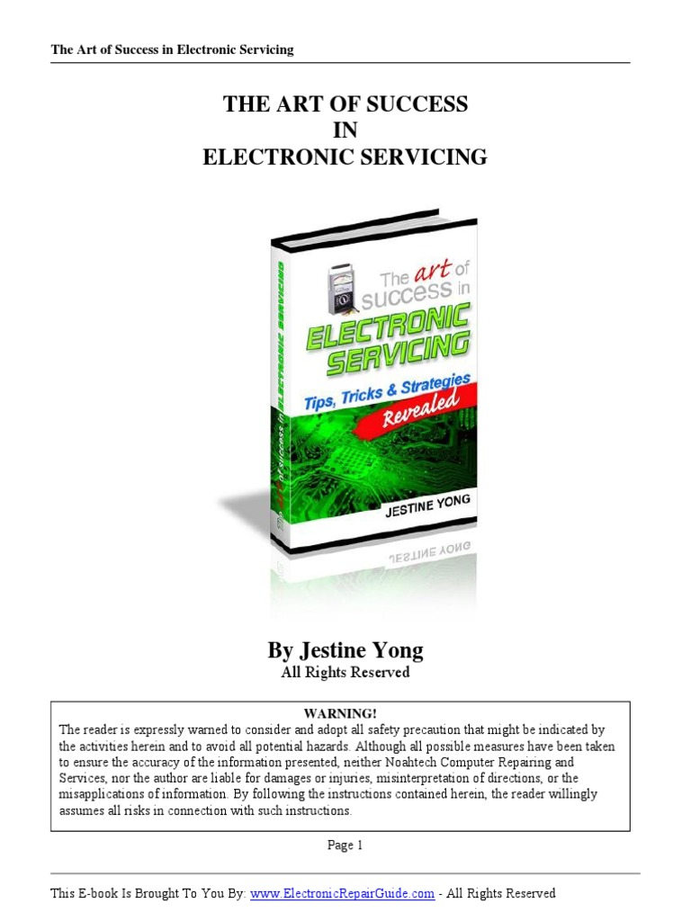 The Art of Success in Electornic Servicing (by Jestine Yong) | Capacitor |  Cathode Ray Tube