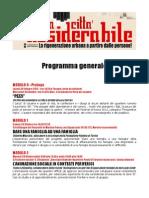 Programma generale del Lab. dal basso 'Per una città desiderabile'