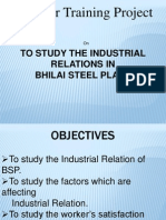 47364532 Lcm Summer Training Project Industrial Relations in Bsp Ppt