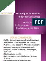 Didactiques du français  théories et pratiques V. SPAETH