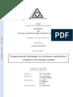 Comportement Dynamique de Structures Non-lineaires Soumises a Des Chareges Mobiles
