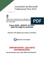 Clave de producto office 2019 professional plus