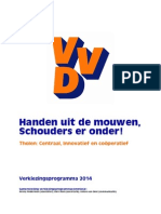 Verkiezingsprogramma 2014 VVD Tholen