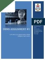 DBMS Assignment 1 15 Oct