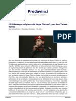 ANA TERESA TORRES El liderazgo religioso de Hugo Chávez