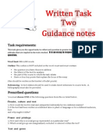 Written Task Two Guidance Notes