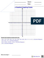 Graphing Four Ordered Puzzle 4